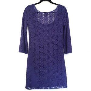 [LILLYPULITZER] Crochet Layered Scoop Midi Dress S